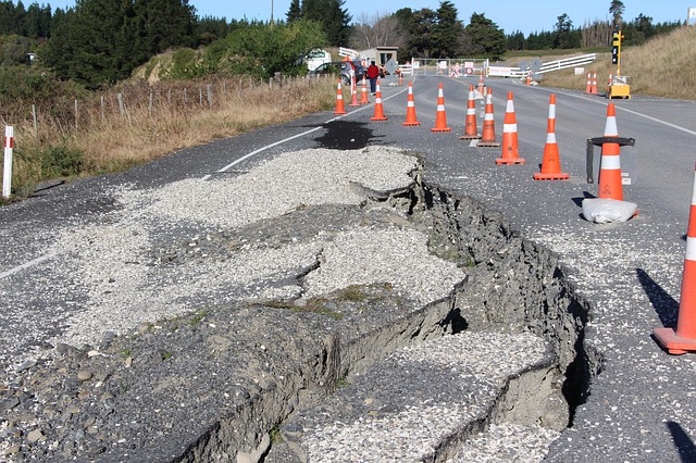 Fault lines causing damage